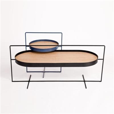 A Pair Of Tables That Is Designed The Basket Coffee And Side Tables For Clothing Display Tables
