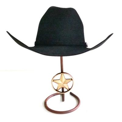 Cowboy Hat Stand With Hand Finished Cast Iron Texas Star,hat Display