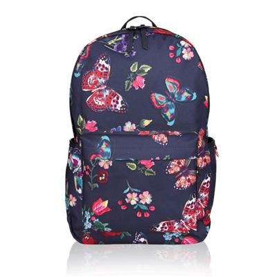 Digital Butterfly-print Dome Backpack, Designed With A Spacious Zipped Compartment Plus Three Outer Pockets
