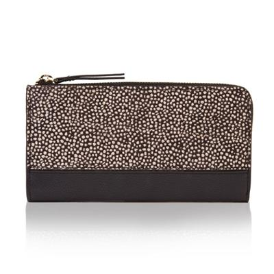 Real Leather WALLET WITH Printed Faux Pony Skin And Multiple Compartments