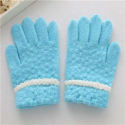 100% Acrylic Wholesale Cheap and Soft Pinkycolor Women Acrylic Knit Gloves