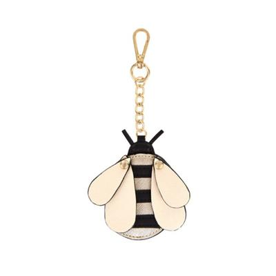 Create A Buzz with Mabel Bee Bag Charm, Featuring A Metallic Gold and Black Design