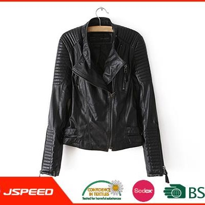 Spring Women OEM Manufacturers Custom Pu Leather Jacket
