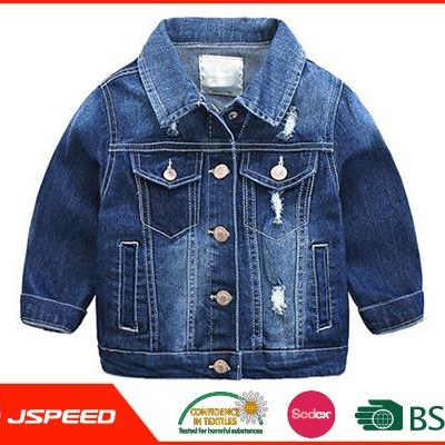 Clothing Manufacturers Overseas For boys hole Denim jacket