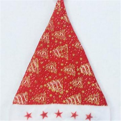 Best Selling Non Woven Fabric Santa Claus Christmas Hats Wholesale Supply Decoration