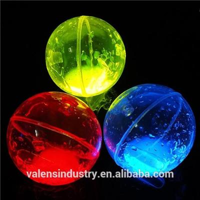 Colorful Funny LED Flashing Light Up Outdoor Kid Glow In The Dark Elastic Ball/Glow Boucing Ball For Kid Funny Toys