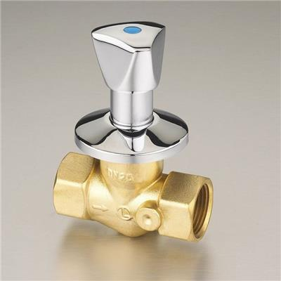 1/2-1 Brass Glove Valve(through shut-off valve) Polishing Surface metal Handle With Drain Valve