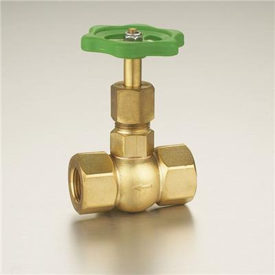 1/2Brass Glove Valve(through Shut-off Valve) Polishing Surface Plastic Handle Straight-flow With Drain Valve