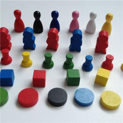 Custom Wooden Board Game Pieces Game Pawns and Tokens