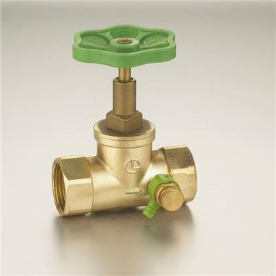 1/2-1Brass Glove Valve(through Shut-off Valve) Polishing Surface Plastic Handle Straight-flow With Drain Valve
