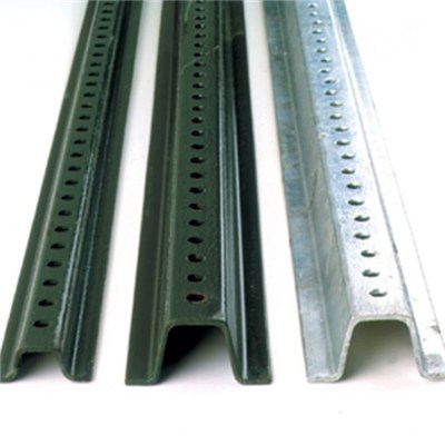 Green PVC Coated And Hot Dip Galvanized Steel U Channel Post