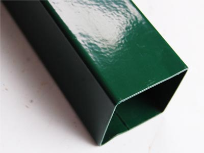 Green Coated Steel Square Tube Post