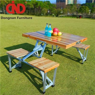 DN Folding Commercial Wooden Picnic Tables For Sale,Cheap Patio&Outdoor Furniture,Garden Table And 4 Chairs