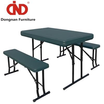DN White Portable Folding Table And Bench,Wholesale Lifetime Fordable Table Set