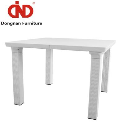 DN Outdoor Modern White Picnic Table,Picnic Garden PP Table For Sale