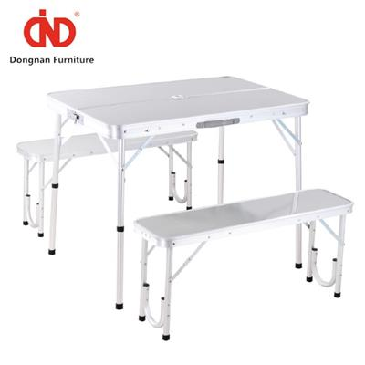 DN Outdoor Space Saver Camping Table And Chairs,Folding Up Garden Table And Bench Set