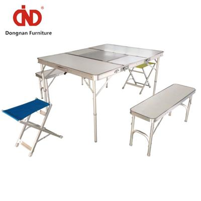 DN Outdoor Folding Dining Table And Chairs,Fold Away Camping Table And Bench