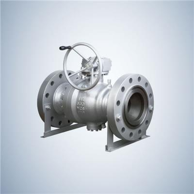 High Pressure Two Piece Wcb Trunnion Ball Valve With Reduced Bore