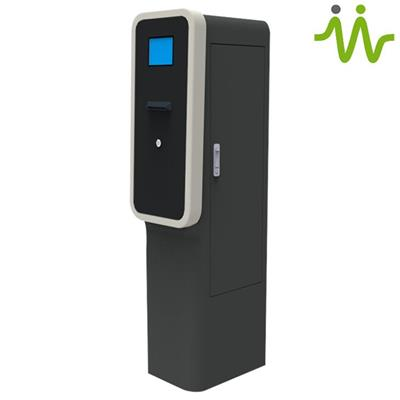 Automatic Car Parking Exit Barcode Ticket Validator Machine for Vehicle Parking Ticket Validation Control Management System on Sale