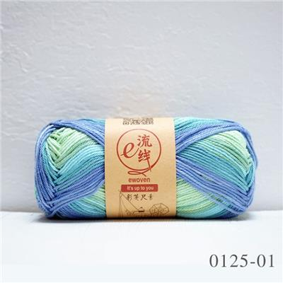 Colorful 100% Mercerized Cotton Space Dyed Hand Knitting Yarn