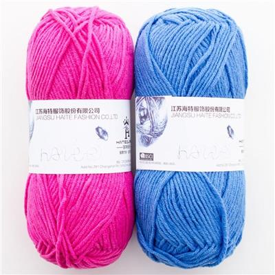 Cotton And Acrylic Blend Baby Hand Knitting Yarn With Multi Colors
