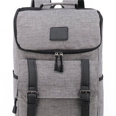 Lightweight Zipper Around Top Canvas Travel Men Backpack