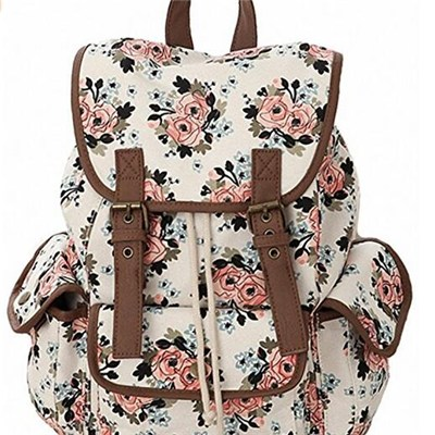 Cute Lovely Jeans Backpack Bookbags For Girls Students Women