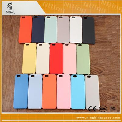 Liquid Silicone Cover Rubber IPhone 6 6S Shockproof Phone Cases With Soft Microfiber Cloth Cushion
