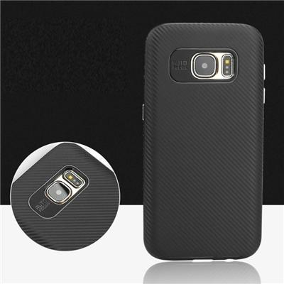 Ultra Slim Bumper Carbon Fiber Armor Case Cover For Galaxy S7