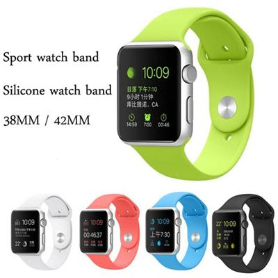 38mm/42mm Apple Watch Link Wrist Silicone Band Sport Rubber Straps