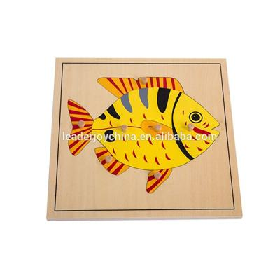 Montessori Wooden Educational Puzzle Toy For Fish Puzzle