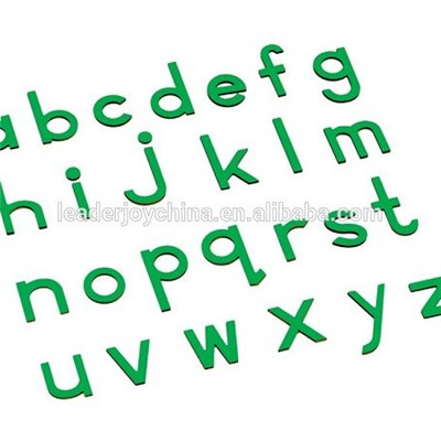 Montessori Wooden Toys For Small Moveable Alphabet(print Green)