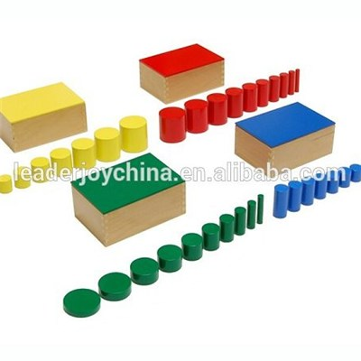 Premium Quality Beechwood Montessori Toys For Toddlers Knobless Cylinder