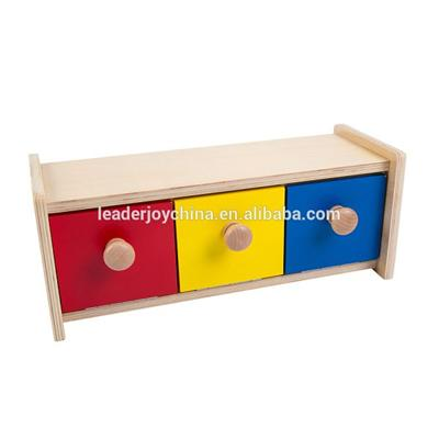 Wooden Montessori Open And Close Box With Bin Toy