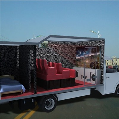 New Fashion Truck Mobile 5d Cinema, Mini 7D Cinema, 9D Cinema Equipment For Hydraulic System