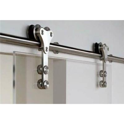 Heavy Duty Exterior Double Sliding Barn Door Tracks And Rollers Hardware