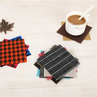 Square Solid Color Holder Coasters Western Restaurant Coffee Antislip Cup Mats