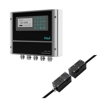 Clamp On Water Flow Rate Meter High Accuracy Transit Time Ultrasonic Remoter