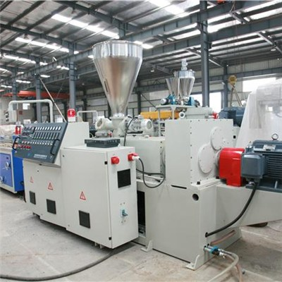 WPC Conical Twin Screw Extrusion Line(Two Step)