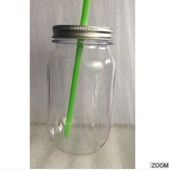 Wide Mouth With Airtight Plastic Lid - BPA-Free Dishwasher Safe Mason Jar For Fermenting, Kombucha, Kefir, Storing And Canning Uses, Clear