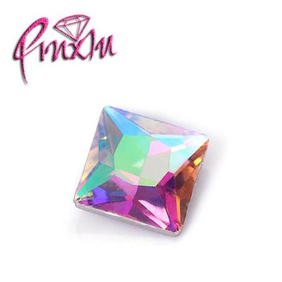 High Quality Clear AB Square Fancy Crystal Point Back Glass Rhinestones For Clothing Accessories 6mm-16mm