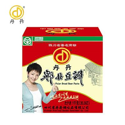 Round Bottled Packaging Sichuan / Pixian Broad Bean Paste Mixed Vegetables Dish Seasoning