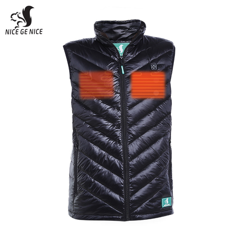 Men's heated down jacket