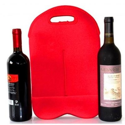Wholesale Excellent Design Customized Logo Neoprene Bottle Bag For Two Bottle/export Durable, Recyclable ,reusable Wine Bags