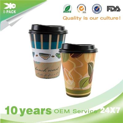 Recyclable Paper Coffee To Go Cups With Lids