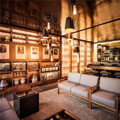 Scotch Whisky Space Design, Boutique Bar Restaurant Design, Bar Design, Leisure Teahouse Design
