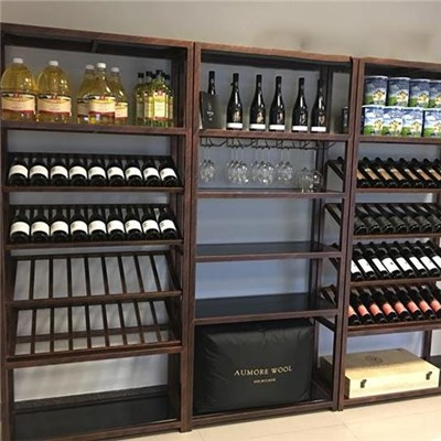 Wrought Iron Wine Cabinet Production Shelf, Production Of Exquisite Wine Table, Do Old Stainless Steel Electroplating Shelf Production