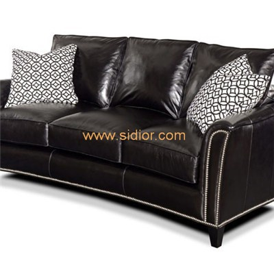 Living Room Lounge Furniture Leather Couch