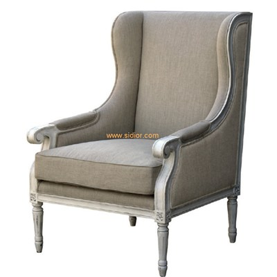 Restaurant Club Furniture Antique Fabric Lounge Chair