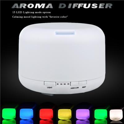 500ml Aromatherapy Essential Oils Diffuser,7 Color Changing Aroma Diffuser